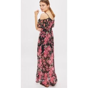 Band Of Gypsies Cold Shoulder Maxi Dress